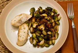 Brussels Sprouts Roasted With Bacon