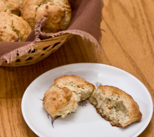 Almond Flour and Honey Drop Biscuits